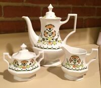Johnson Bros. Greenfield Tea Coffee Pot Creamer and Sugar - England