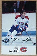 1988-89 GUY LAFLEUR ESSO MINI STICKER CARD MONTREAL CANADIENS