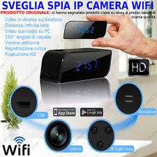 SVEGLIA SPIA IP CAM WIFI 3G 4G MICROSPIA VIDEOCAMERA NASCOSTA HD VIDEO CAM SPY