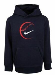 Boys Nike Baseball Hoodie Pullover Athletic Sports Jacket Coat Youth Ball Hoody