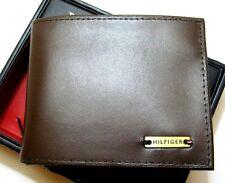 Tommy Hilfiger  Men's Leather Wallet Passcase Bifold 0091-3046/02 Brown New NIB