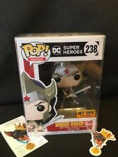 Funko Pop!  Wonder Woman Flashpoint Hot Topic Exclusive w/ Free Pop Protector