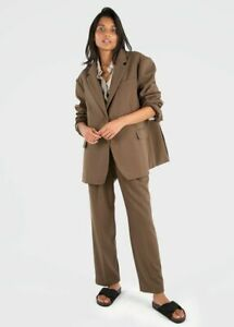 nwt the frankie shop bea blazer pantsuit trousers chocolate size small