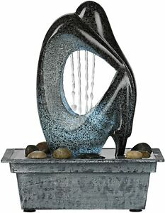 """LED LAMP/FOUNTAIN, FAUX MARBLE, NIGHTLIGHT/WHITE NOISE 10"""" WOMAN, FREE GIFT"""