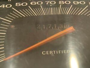 1971 1972 Plymouth Fury Dodge Polara Police Speedometer Certified 140 mph clust