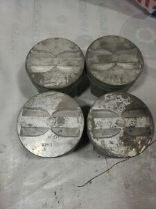 62-69 Chevy 327 PISTONS TRW L2165 Flat Top Valve Relief STANDARD BORE lot 4 NOS