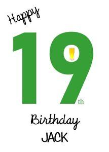 Personalised 19th Birthday Card Men - 19 Years Old - Son Grandson Nephew