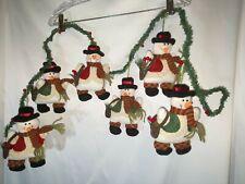 Christmas Plush Snowman Garland~
