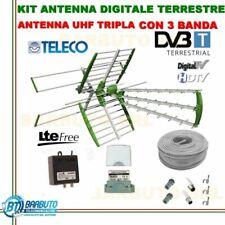 IMPIANTO ANTENNA TV DIGITALE TERRESTRE COMPLETO DI TUTTO, ANTENNA COMBO 35dB