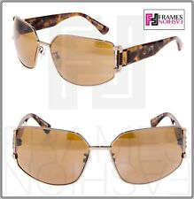 6d5ab3567 Lanvin Ln020 Copper Metal Brown Marble Silver Mirror Wrap Crystal Sunglasses  020