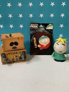 Lot vintage South Park action figure toys pin Cartman 2006 Comedy partners Mezco