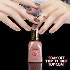 Professional 15ml Top It Off Coat Easy Top Coat UV LED Soak Off Gel Nail Polish