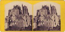 Mont-Saint-Michel Photo Stereo Vintage albumine