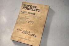 TOYOTA 5LR 5LK 1967 Forklift Parts Manual book catalog industrial lift truck oem