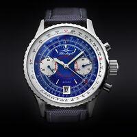 Blue Angels Fliegerchronograph Chronograph Uhr Fliegeruhr POLJOT 3133 Russland