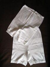 2 Damenschlüpfer mit Bein Gr. 44 und 46 weiß ungetragen Baumwolle ohne OVP