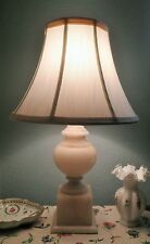 ALABASTER SOAPSTONE LAMP W/SHADE-GOOD WORKING CONDITION-GORGEOUS!