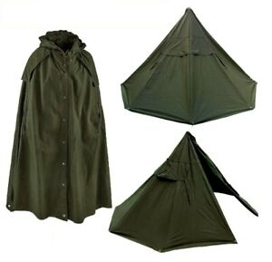 Genuine New Old Stock Used Polish Lavvu military tent Canvas Ponchos 1973-2004