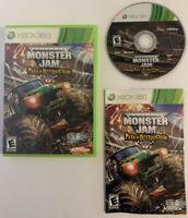 Monster Jam: Path of Destruction (Microsoft Xbox 360, 2010) Complete & Clean