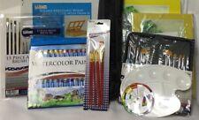 Huge Lot - Deluxe Acrylic Painting Set - Floor & Desktop Easel, Brushes, paper,