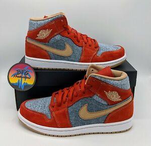 Nike Jordan AJ 1 Mid SE Denim Shoes Men's Size 8 - DM4352-600  - 100% Authentic
