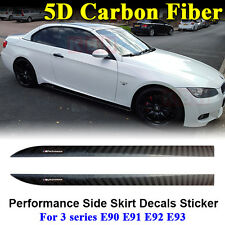 M Performance Side Skirt Stripe 5D Carbon Fiber Sticker for BMW 3 Series E92 E93