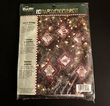 Mary Engelbreit Christmas Ornaments Scottie Dog Gingerbread Men Cross Stitch Kit