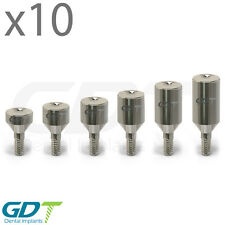 10 Healing Cap Ø4.6 - Normal platform, Internal Hex Dental Implant Abutment