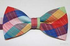 Mir Bow Tie Men's Tuxedo Bowtie  Multi-Color Checks Wedding Party bt163