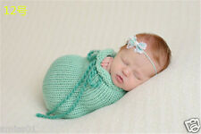 Crochet Newborn Photography Knit Beanie Costume Cocoon Beanbag Baby Photo Props