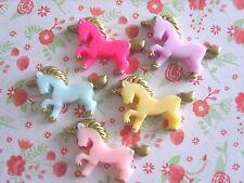 5 x Mixte Unicorn Resin Flatback Cabochon Scrapbooking Craft Bow Decoden À faire soi-même