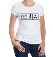 Damen Kurzarm Girlie T-Shirt Fragewort mit zwei Buchstaben-HÄ lustige Sprüche