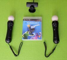 2 Stück Sony PS3 Move Motion Controller mit Kamera
