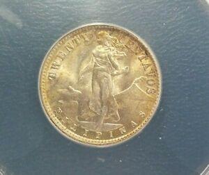 1944-d philippines 20 centavos MS65 GEM/BU