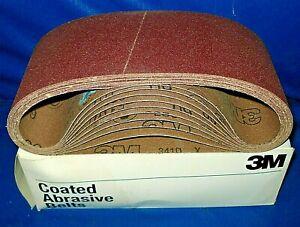 """NEW 3M 341D 4""""x24"""" 60 Grit X-Wt Cloth Belt 66610  10 pack bundle"""