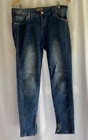 Ladies M.SARA Zip Detailed Blue Jeans Size M/L <G625
