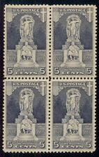 US #628 5¢ Ericsson, Block of 4, og, VLH, VF,