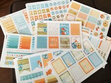 PP409 -- Fox and Owl January Life Planner Sticker Kit for Erin Condren 8 sheets