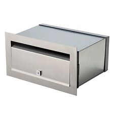 Stainless Palazzo Front Open Letterbox A4 Brick Mail