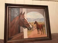 Original Oil on Canvas Painting of A Horse by Elizabeth Bell