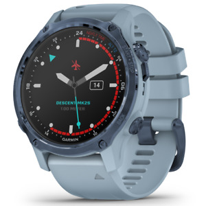 Garmin Descent Mk2S Watch-Style Dive Computer Mineral Blue with Silicone Band