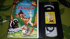 """Walt Disneys """"Bambi"""" VHS Original *Für Sammler* Top-Zustand Jahr 1942"""