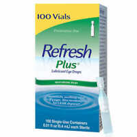 Refresh Plus Lubricant Eye Drops, Preservative Free 100 Single Use Containers
