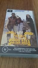TWO MULES FOR SISTER SARA - CLINT EASTWOOD, SHIRLEY MACLAINE VHS VIDEO