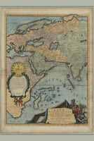 Map of Asia; Antique Map; ca. 1700; Vincenzo Coronelli