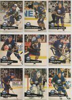 1991-92 BUFFALO SABRES Pro Set FRENCH Series 1 Team Set - 14 Cards - MOGILNY