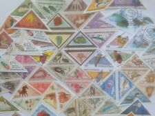 200 Different Triangles/Triangular Stamp Collection
