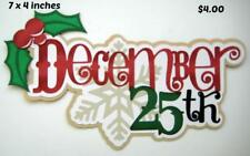 DECEMBER 25TH TITLE Christmas scrapbook premade paper piecing by Rhonda
