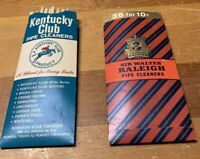 2 Smoking Tobacco Smokers Pipe Cleaners Sir Walter Raleigh & Kentucky Club .10