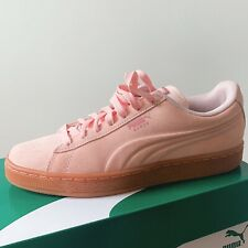 PUMA Womens Suede Blush PINK Sneakers SIZE YOUTH 7/ WOMENS 8 Like  MINT With Box